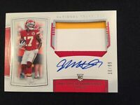2019 National Treasures RPA Mecole Hardman Jr. On-Card Auto 3-Color Patch #10/99