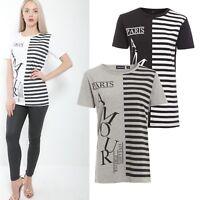 Ladies Amour Paris Slogan Print Round Neck Short Sleeve Womens Tee Top T-Shirt