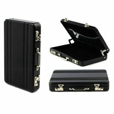 Metal Mini Briefcase Suitcase Business Bank Card Name Holder Case Box Card T6Z1