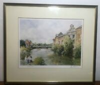 VINTAGE 1986 LTD ED FRAMED & SIGNED PRINT BY E.R.STURGEON RIVER TONE AT TAUNTON