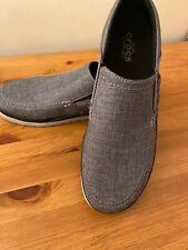 Crocs Men's Santa Cruz Playa Slip-on Loafers Grey/graphite Boat Shoes UK 12
