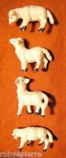 4 pecore sheeps del presepe crib vintage made in italy in resina plastica dura