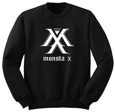Kpop Sweater - Monsta X Black Sweatshirts Size S - XL