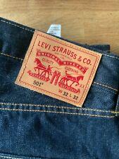 LEVI 501 Mens Dark Blue, Red Tab Denim Jeans 501 W32 L32