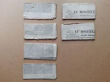 Le moniteur universel 4 numéros complet + 2 pages 1870 et 1872