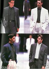 GIANNI VERSACE linen & silk polka dot double-breasted blazer size Italian 54
