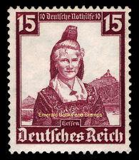 EBS Germany 1935 Nothilfe - Regional Costumes - 15+10 Pfennig - Michel 594 MNG