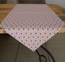 Tischläufer rosa Rosen 50*160cm Tischdecke Deko Garten Rosendecke Clayre&Eef