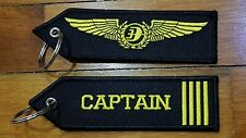ONE Embroidery Keychain CAPTAIN Malaysia Airlines MAS logo MH Aviation Flight