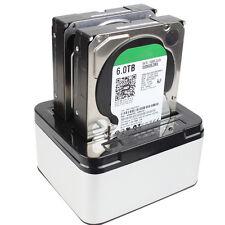 Dual SATA HDD SSD Docking Station HDD Enclosure Offline clone 2.5/3.5inch USB3.0