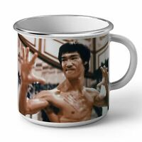 Mug en Métal Emaillé Bruce Lee Kung Fu Arts Martiaux La Fureur Du Dragon