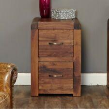 Bentley Walnut Furniture Dark Wooden Small Filing Cabinet 2 Drawer Home Office