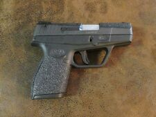 Black Textured Rubber Grip Enhancements for the Taurus PT709 or PT740 Slim