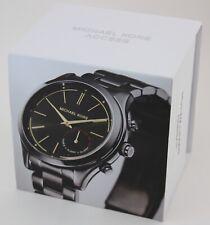 Michael Kors Access Slim Runway 42mm Stainless Steel Case Link Bracelet Black Smartwatch - (MKT4003)