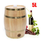 5L Barrel Wooden Barrel Stand Upright Whiskey Wine / Liquid Storage Holder Keg