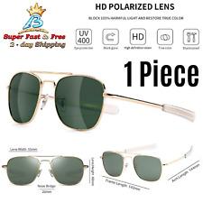 Military Style Pilot Aviator Sunglasses Polarized Bayonet Temples Shades UV400
