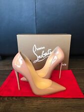 Louboutin So Kate Authentic Nude Box Leather Pumps Patent Leather 120mm Size 38