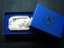 COLT ARMY MODEL 44 CAL. 1860 BELT BUCKLE W/BOX! VINTAGE! RARE! RHODIUM PLATED!