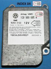 VW Beetle Airbag Crash Impact Control Module ECU 1C0909605A Index 04