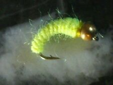 BEAD HEAD MIDGE SIZE 18 GREEN  FRONTIER FLY FISHING FLIES TROUT INCH WORM