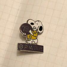 Vintage 1979 Snoopy Peanuts Metal Enamel Bowling GPWBA Lapel Pin Pinback