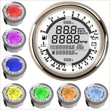 6In1 Multifunction 7-Color LED GPS Speedometer Tachometer Oil Pressure Voltmeter