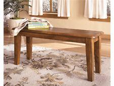 Berringer Dining Room Furniture Ashley Hardwood Dining Bench Brown Finish #D199