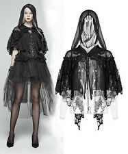 Punk Rave chaqueta bolero Gothic Lolita Hood punta nugoth capucha Lace wly-083