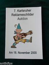 Auktionskatalog 7. Karlsruher Reklameauktion 18.11.2000