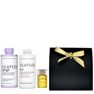 Olaplex Geschenkset Neu - No.4P Blonde Enhancer Toning Shampoo 250ml + No.5 Bon