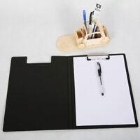 A4 Klemmbrett Ordner Schreib Polster Falte Büro Halterung Hart Foldover Attract