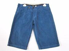DOLCE GABBANA Femme Vintage Cotton Mid taille Bleu Coton Cordon Shorts Pantalon Sz 26 BA5