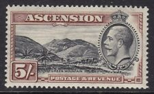 ASCENSION 1934 PICTORIAL 5s, VERY FINE MINT, CAT £55