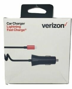 Verizon 30W Lightning Fast Car Charger 9ft Cable For Apple iPhone 12 11 X SE