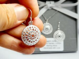 UK Vintage Sterling Silver Jewellery Set Gift Boxed