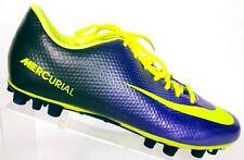 Nike Men's Mercurial Vapor X AG Bright Purple Fluorescent Yellow Soccer Shoe 10