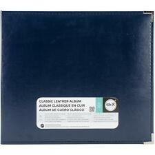 """WE R MEMORY KEEPERS FAUX LEATHER 3-RING SCRAPBOOK ALBUM BINDER 12""""X12""""- NAVY"""