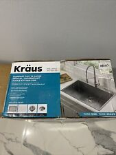 "Kraus Standart Pro 33"" x 22"" Stainless Steel Single Bowl Drop-In Sink Kht300-33"