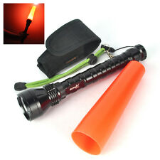 4000LM 3XXML T6 LED Flashlight Safety Caution Signal Traffic Control Light Torch