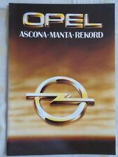 Opel range brochure Oct 1979 Ascona, Manta, Rekord UK market
