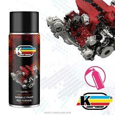 Vernice Motore Alta Temperatura Originale Raggrinzante RED FERRARI spray 400ml