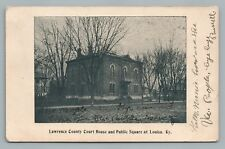 Louisa KY Lawrence County Court & Square KENTUCKY—Rare Antique UDB Virginia RPO