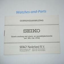 Seiko SEL Cal. 5T52 Gebruiksaanwijzing NL Booklet GENUINE NEW NOS