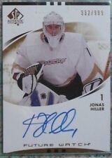 2007-08 SP Authentic Future Watch Rookie Autograph Jonas Hiller RC Anaheim Ducks
