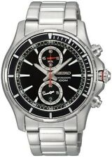 NEW SEIKO NEO SPORT SNN243P1 Men's Black Dial Chronograph Watch SNN243