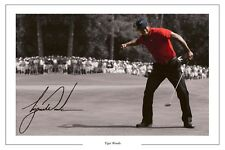 TIGER Woods OPEN GOLF AUTOGRAPH SIGNED FOTO STAMPA