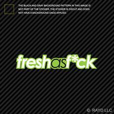 Green Fresh As F*ck Sticker Decal Self Adhesive Vinyl heart jdm fck
