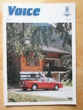 BENTLEY & ROLLS ROYCE Voice Magazine - Rare in-house brochure - 1991 Issue 6