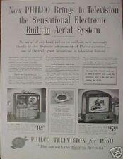 1950 PHILCO Television/TV Radio Record Player 1478/1400