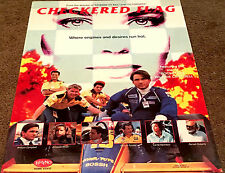 Checkered Flag Movie Poster Billy Campbell, Amanda Wyss Video Promo Poster 1991